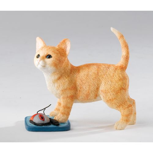 Country Artists - Kittens Collection Kitten with Mouse Figurine Gift  Ref. CA03260