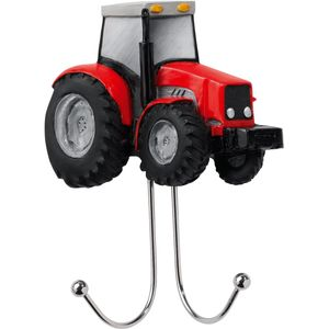 Country Artists Red Farm Tractor Wall Hook