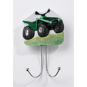 Country Artists Green Terrain Vehicle ATV Wall Hook