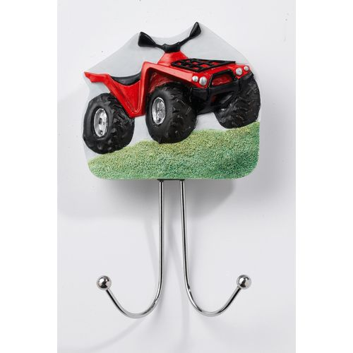 Country Artists Home Accessories Red Farm All Terrain Vehicle ATV  Wall Hook Ref. CA02894