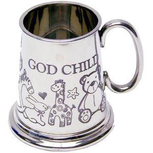 Pewter Tankard / Baby Mug - Godchild