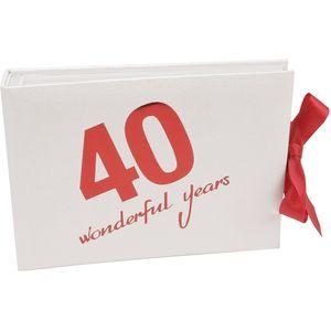 "40 Wonderful Years Photo Album - Holds 50 4"" x 6"" Photos"