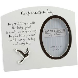 "Arched Photo Frame 3"" x 4"" - Confirmation Day"