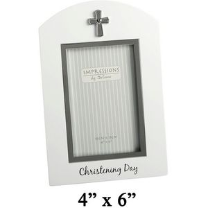 Christening Day White/Silver icon Photo Frame 4x6""
