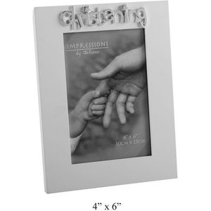 Christening MDF Impressions Photo Frame 6x4""