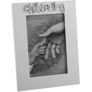 "Juliana Impressions White Photo Frame 4"" x 6"" - Christening"