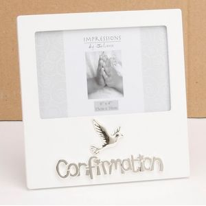 Confirmation Impressions White MDF Photo Frame 6x4""