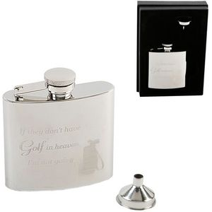 Harvey Makin Golf Hip Flask with Funnel 4oz