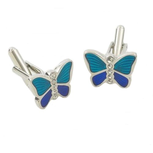Blue Butterfly Dress Cufflinks