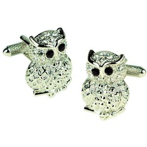 Owl with Crystal Eyes Cufflinks