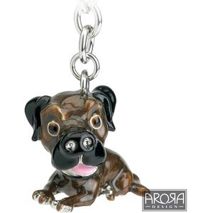 Little Paws Border Terrier Dog Keyring
