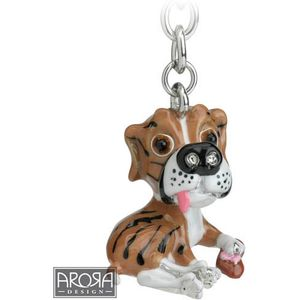Little Paws Boxer Dog Keyring