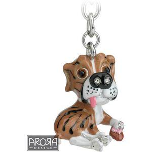 Little Paws Boxer Dog Keyring