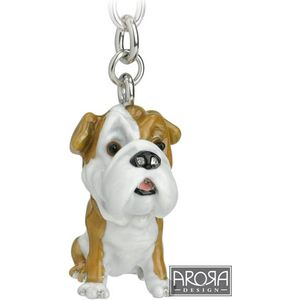 Little Paws British Bull Dog Keyring