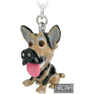 Little Paws German Shepherd Dog Keyring