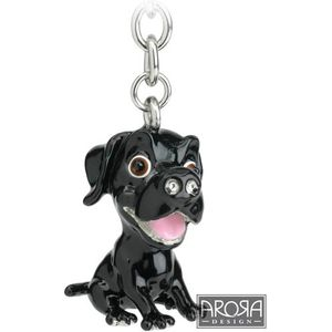 Little Paws Black Labrador Dog Keyring