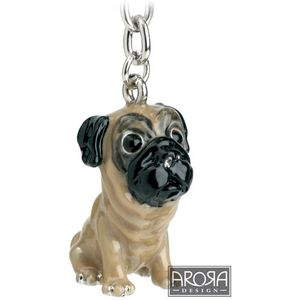 Little Paws Pug Dog Keyring