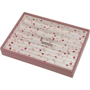Stackers Pink Jewellery Tray (Ring & Bracelet Sections)