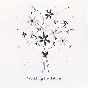 Wedding Invitations Floral Bouquet Design