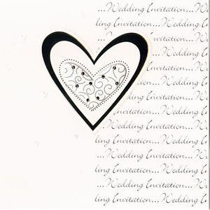 Wedding Invitations Silver Hearts Design