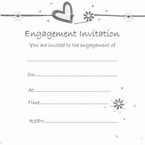 Engagement Invitations qty 10