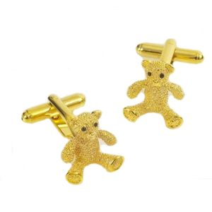 Golden Teddy Bear Cufflinks