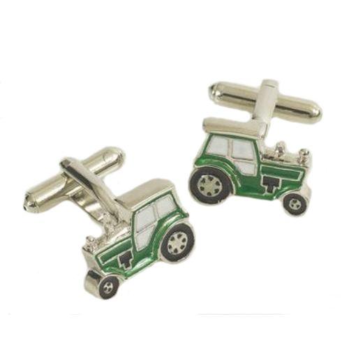 Green Tractor novelty gift cufflinks