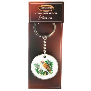 Nature Craft Collectable Keyring - Barn Owl