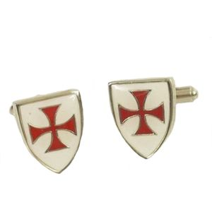 Enamelled Knights Templar Cufflinks