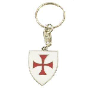 English Pewter Knights Templar Masonic Keyring
