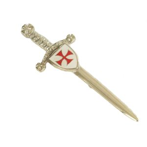 Knights Templar Enamelled Kilt Pin