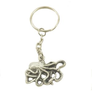 English Pewter Octopus Keyring