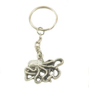 English Pewter Octopus Keyring