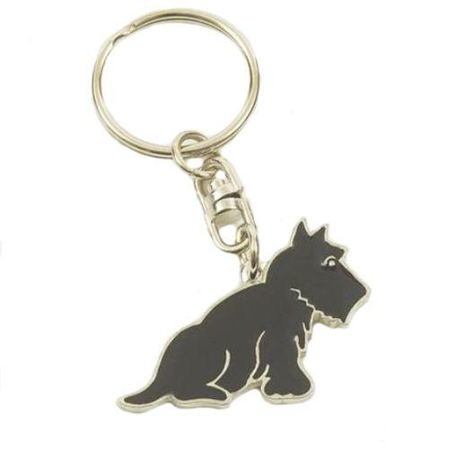 English Pewter Scottish Terrier Scotty Dog Keyring