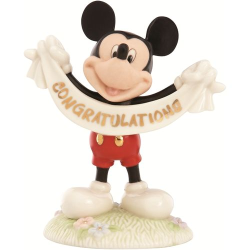 Disney Lenox Mickey Mouse Congratulations Figurine Ref 816001