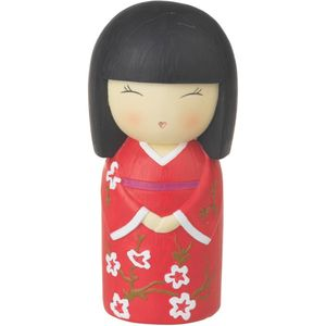 Japanese Collection Hina Doll Money Box (Red)