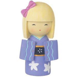 Japanese Collection Hina Doll Figurine (Purple)