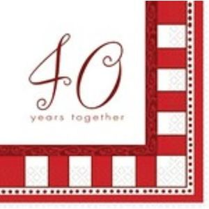 40 Years Together Napkins 16 Pack