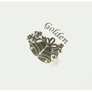 Foil Printed Golden Anniversary Napkins x 45