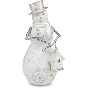 Perfectly Presented: Merry Christmas Snowman Figurine