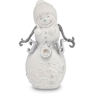 Perfectly Presented Snowman Figurine - Joy