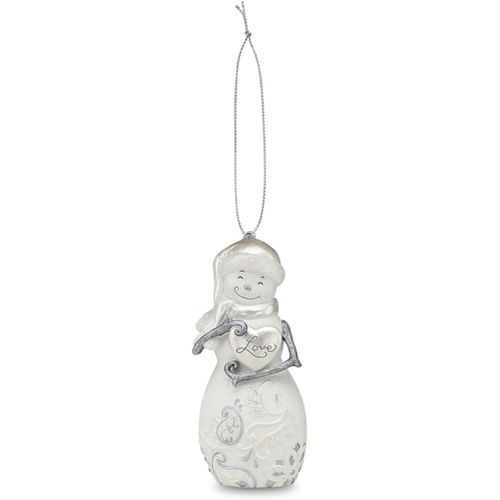 Perfectly Presented Figurines Love Snowman Christmas Hanging Ornament Ref 77017