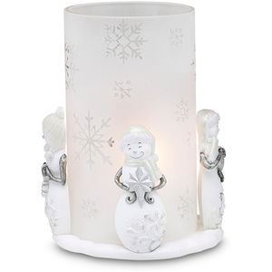 Perfectly Presented Snowman Candle Holder - Winter Wonderland