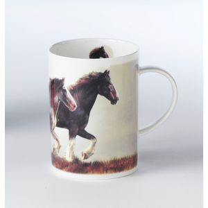 Border Fine Arts Studio Collection China Mug - Clydesdale Horse