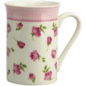 Gleneagles Fine China Mug - Rosebuds (Pink Band)