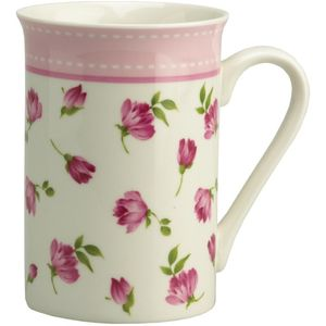 Gleneagles Fine China Rosebuds mug Pink Band