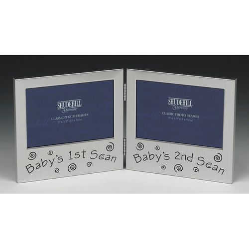 Baby`s Scans Double Photo Frame