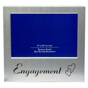 "Message Photo Frame 5"" x 3.5"" - Engagement"