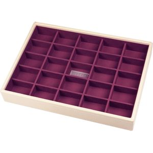 Stackers Cream & Purple 25 Section Tray
