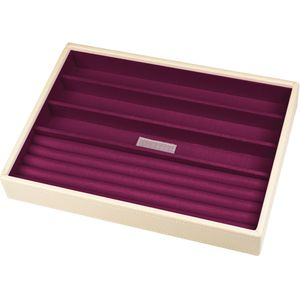 Stackers Ring & Bracelet Jewellery Tray - Cream & Purple